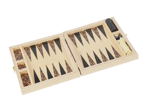 TRAVEL BACKGAMMON SET - CARMELA/POPPY