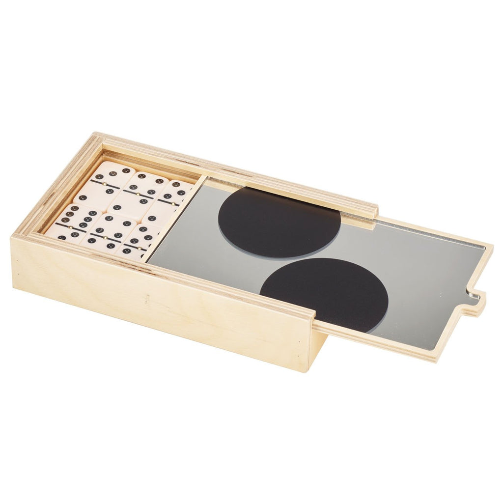 DOMINO SET - BLACK DOT MIRROR