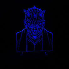 Star Wars Vassal Sith Warrior Darth Maul Head Color-Changing USB-Powered 3D LED Night Light Desk Lamp for Kids Children Bedroom Gift
