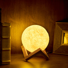 Modern Color-Changing Moon 3D Night Light w/ Bulb & USB-Powered Rechargeable Battery