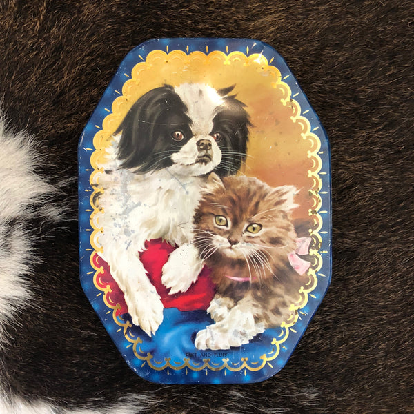 VINTAGE TINS - King Charles and Kitten A W ALLEN Melbourne