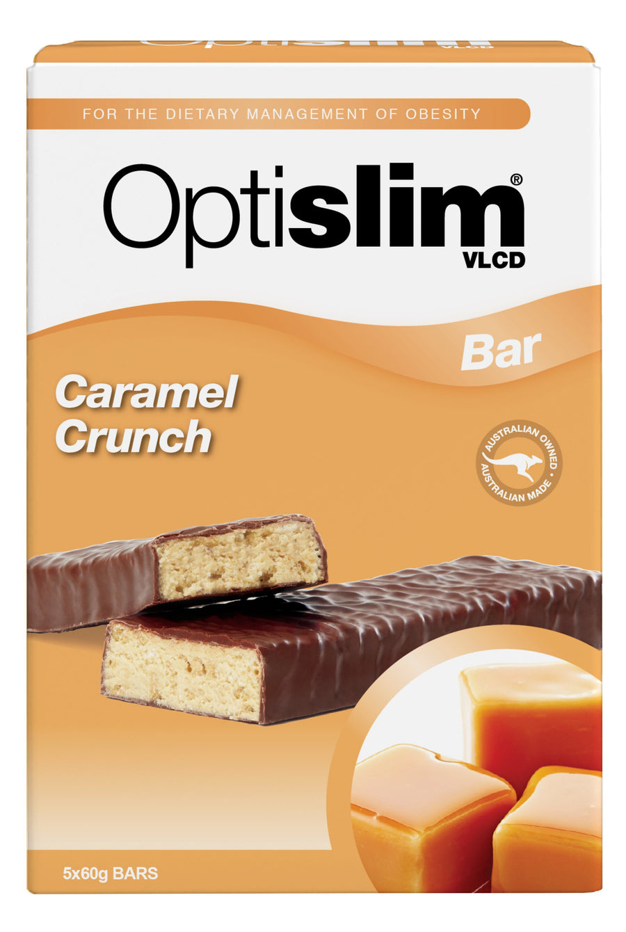 Optislim VLCD Bar Caramel Crunch (5x60g) Weight Loss OptiSlim