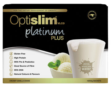 Optislim VLCD Platinum Plus Meal Replacement Shake Vanilla Weight Loss OptiSlim