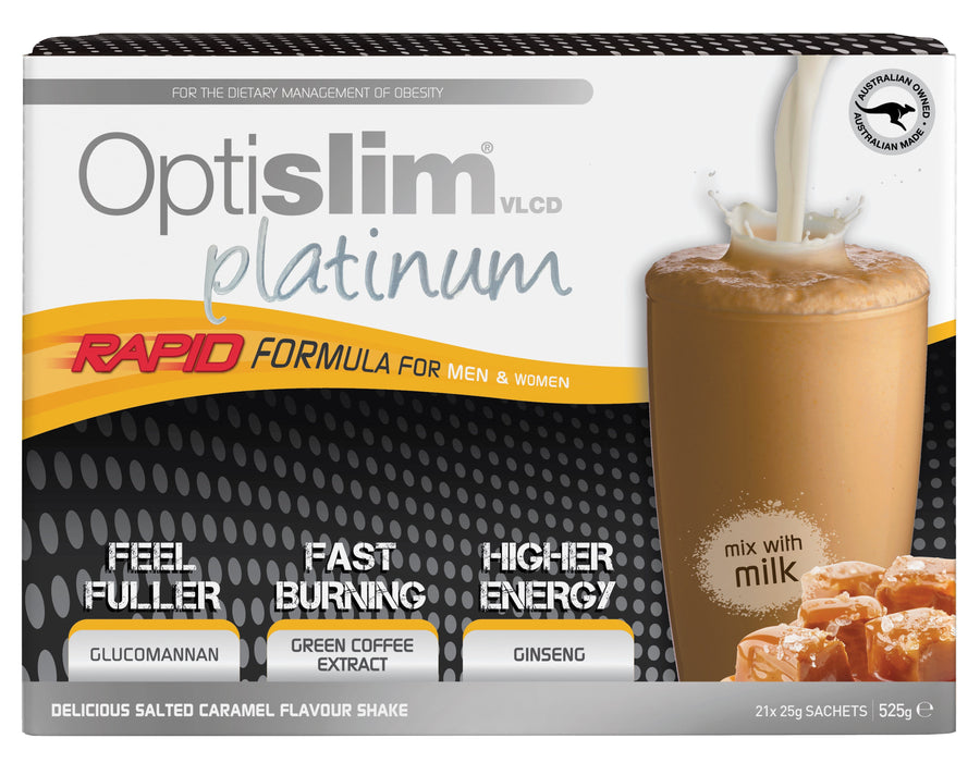 Optislim VLCD Platinum Meal Replacement Salted Caramel (21x25g) Weight Loss OptiSlim