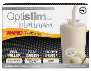 Optislim VLCD Platinum Meal Replacement Shake Vanilla (21x25g) Weight Loss OptiSlim