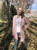 Boyfriend Cardigan Sweater in Pink