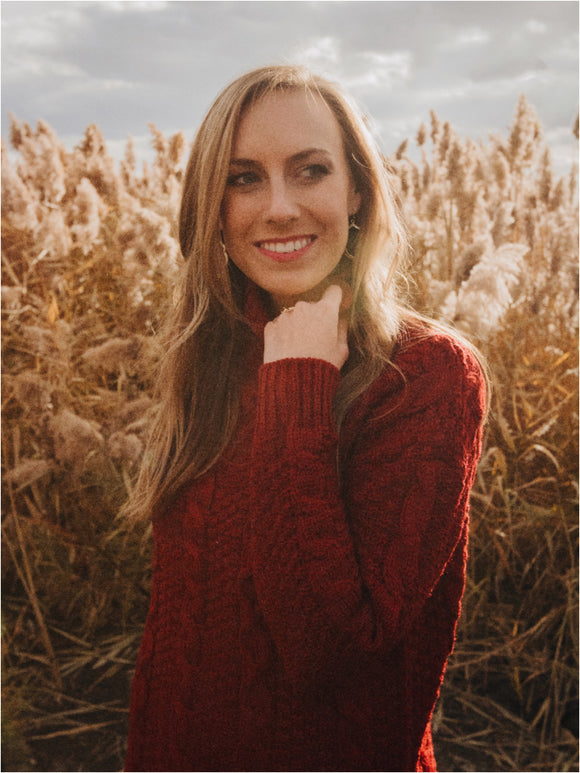 Stormy Knit Sweater in Burgundy