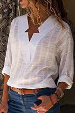 Sexy V Neck Pure Color Blouses - lolabuy