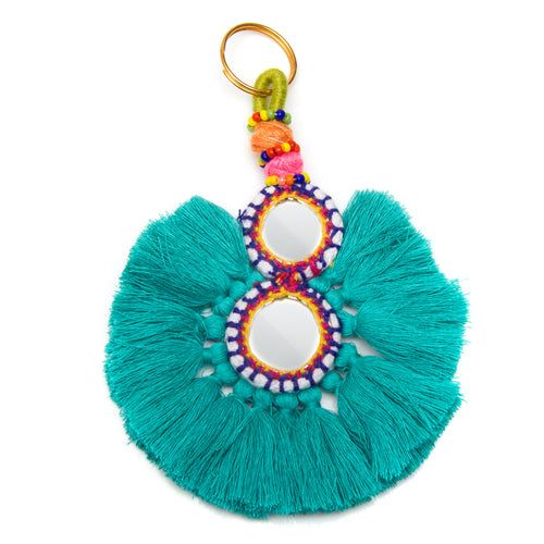 GOOD VIBES KEYCHAIN TURQUOISE - Wonderfuletta
