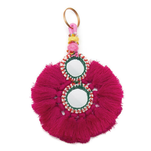 GOOD VIBES KEYCHAIN FUCHSIA - Wonderfuletta