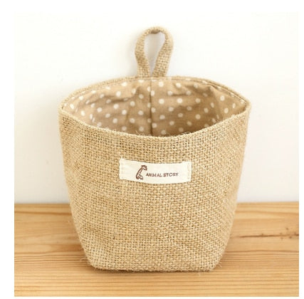 Jute Box with Cotton Lining