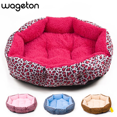 NEW! Colorful Leopard print Pet Cat bed  Pink, Blue, Yellowish brown, Deep pink, SIZE M,L