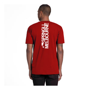Bold Map Red Tee