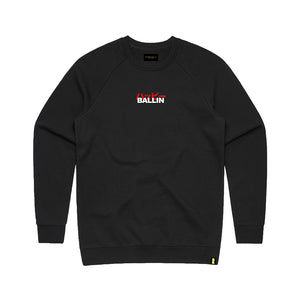 Happy Ballin Black Crewneck