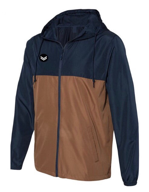 Navy/Brown Windbreaker