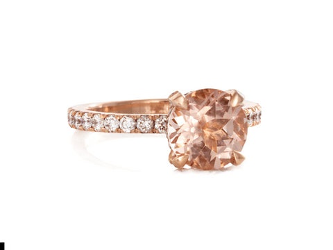 Solstice Rose Gold Diamond Cocktail Ring