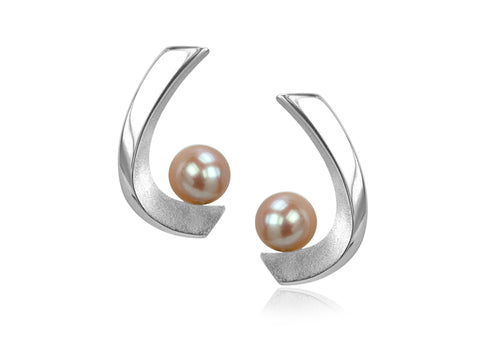 Aqua Small Black Pearl Earrings