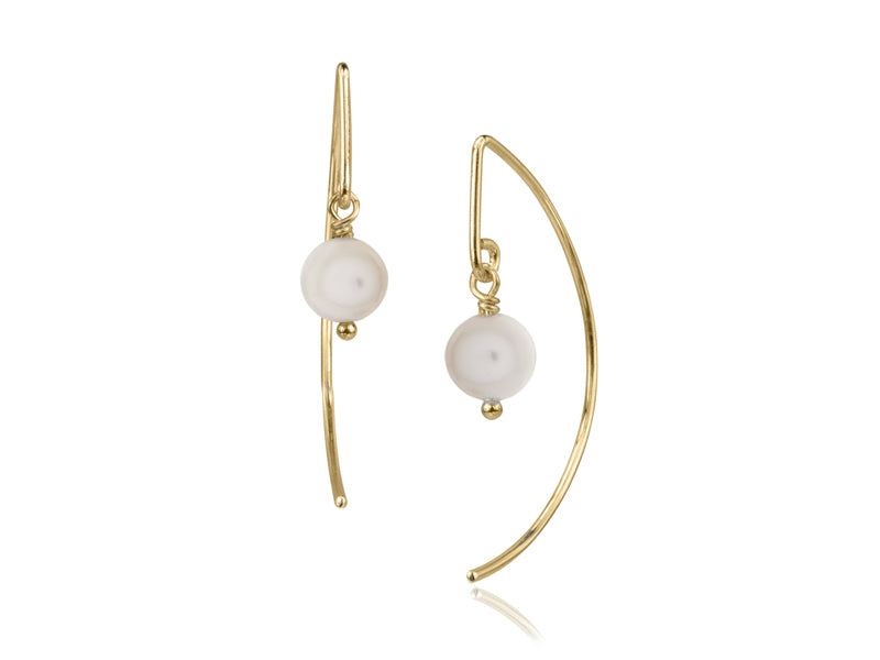 Pamela Lauz Jewellery - Lantern White Pearl Earrings