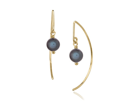 Viento Small Brass Earrings