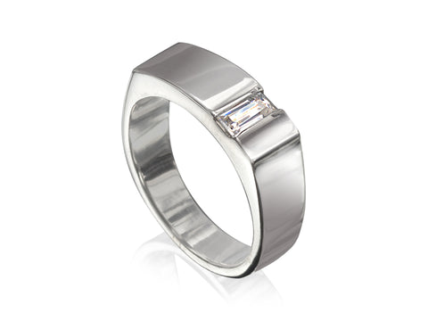 Two-Tone Layered Wedding Band