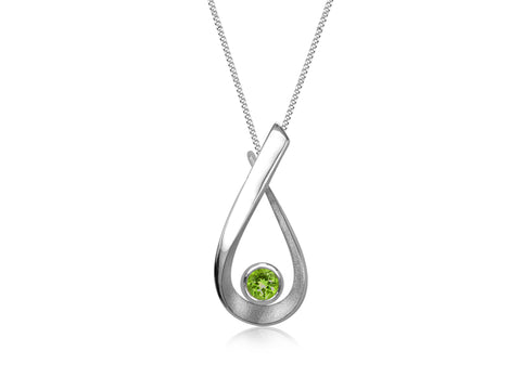 Aqua Medium Peridot Pendant