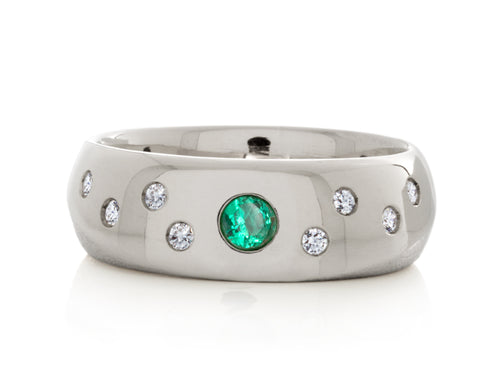 Pamela Lauz Jewellery - Solstice Diamond and Emerald Ring