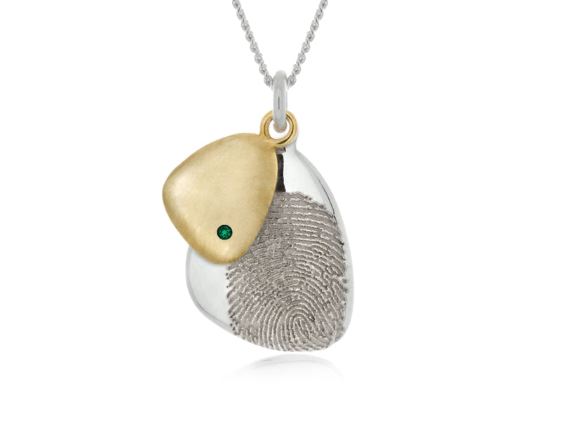Pamela Lauz Jewellery - Terra Pebble Pendants with Birthstones