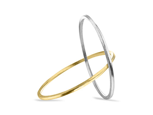 Pamela Lauz Jewellery - Mobius Silver and Bronze Interlaced Bangles