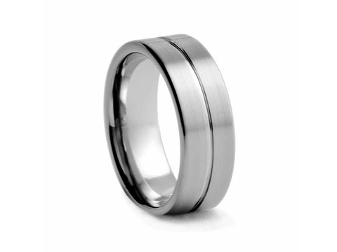Tungsten Band with Cubic Zirconia