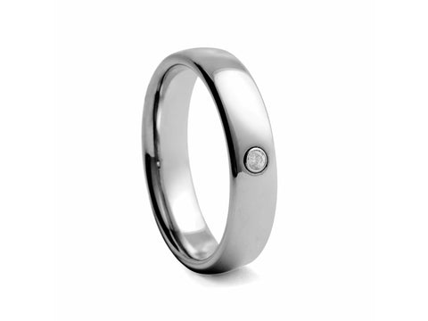 Polished Tungsten Band with Polished Edges