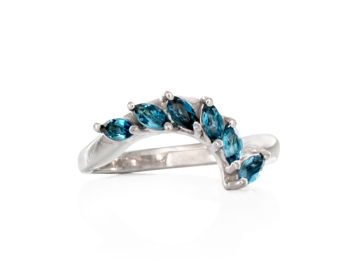 London Blue Topaz Fitted Wedding Band