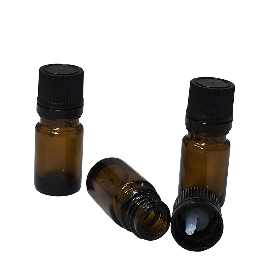 5 ml glass amber bottle with dropper lid,packaging - Karma Suds