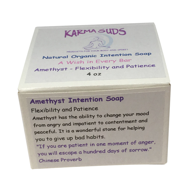 Amethyst Intention Soap - 4 oz - Reiki infused,Soap - Karma Suds