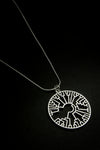 Phylogenetic Tree Circle Pendant