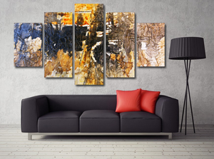 Abstract Wall Art: 5 Piece Staggered