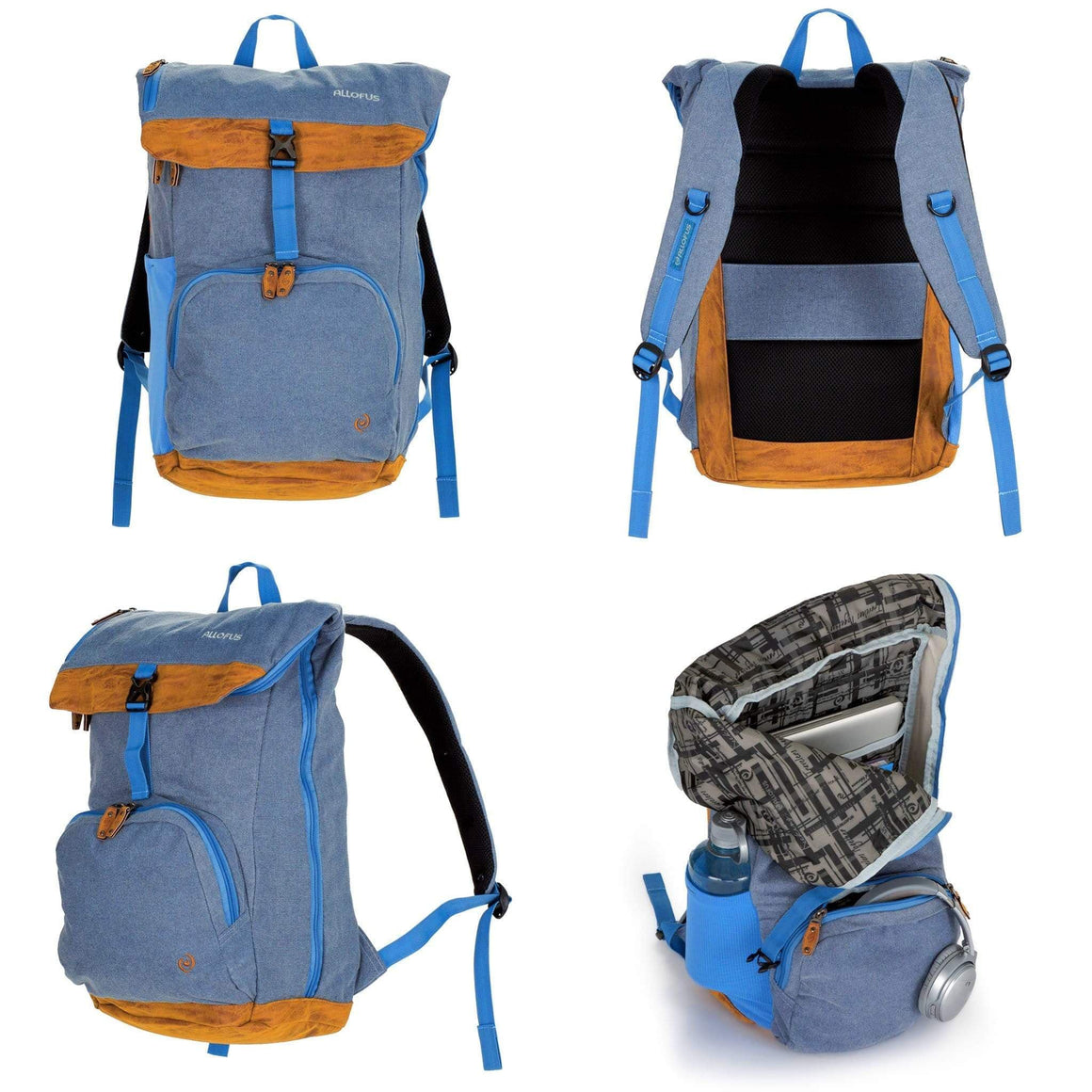 Front of The All of Us Cruiser Backpack In Light Blue