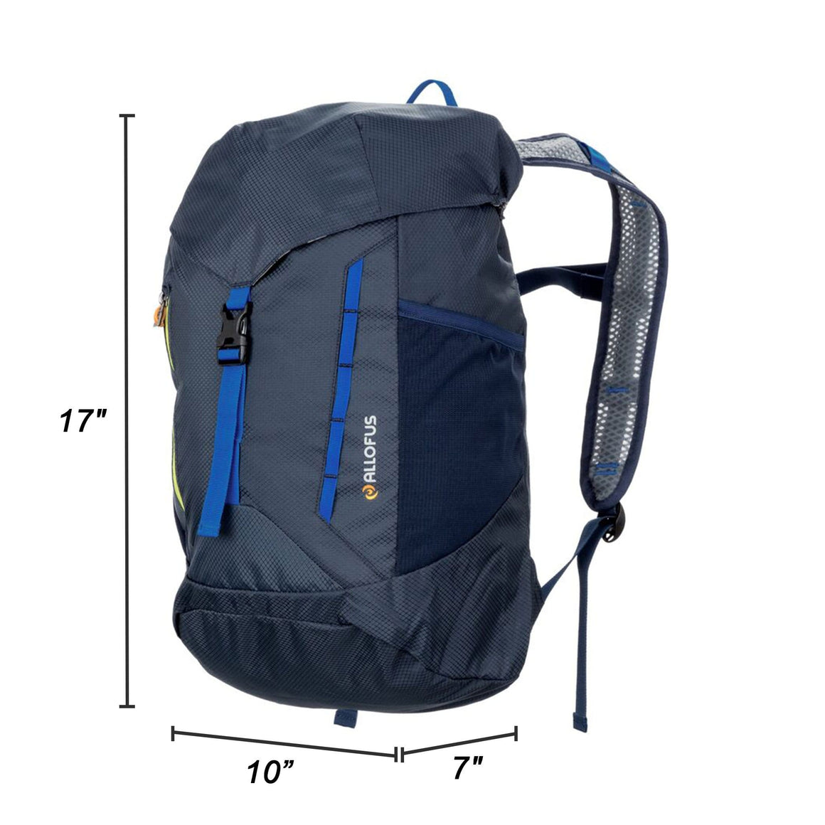 Front of the All of Us Packable Lightweight Backpack in Dark Blue