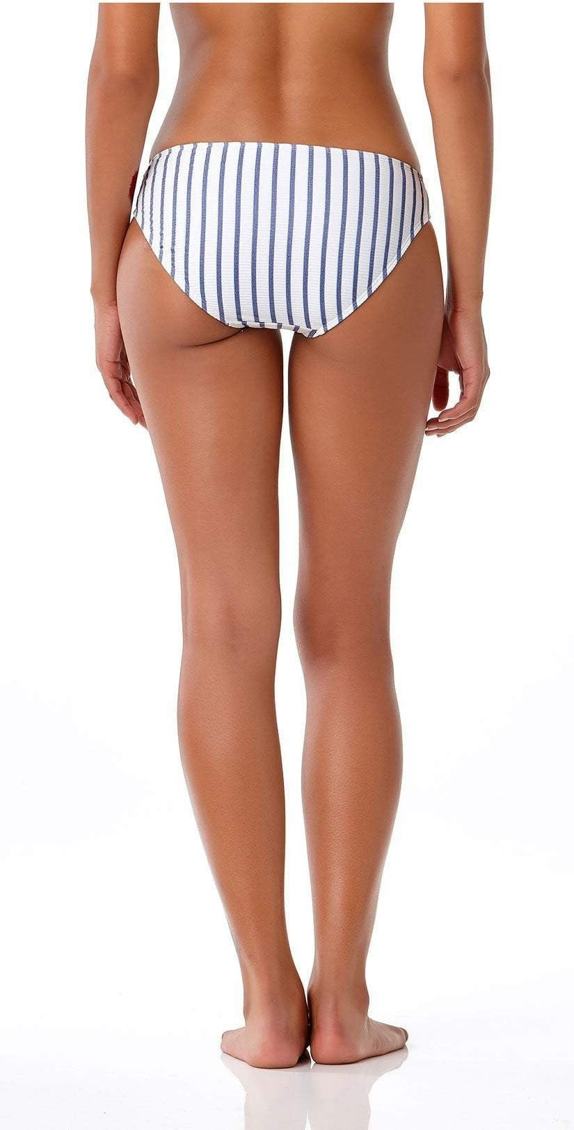 Anne Cole Studio Beach Bunny Full Bottom In Blue Stripe 18SB32202-BLST back