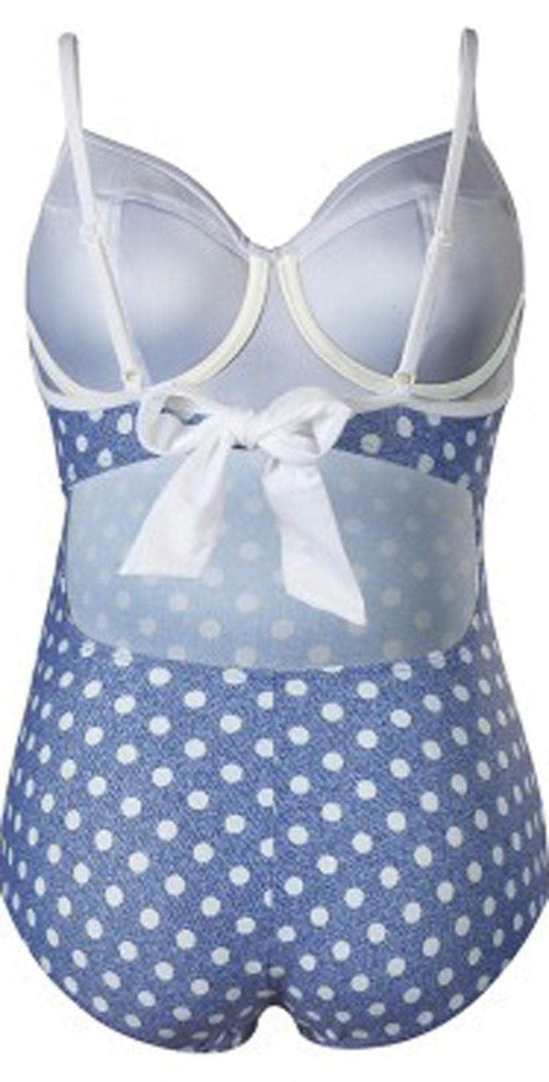 Cache Coeur Pin up polka dot bathing suit