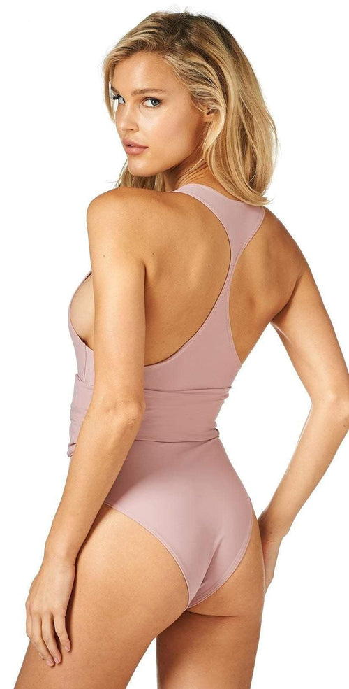 Montce DA One Piece in Dusty Rose Back View