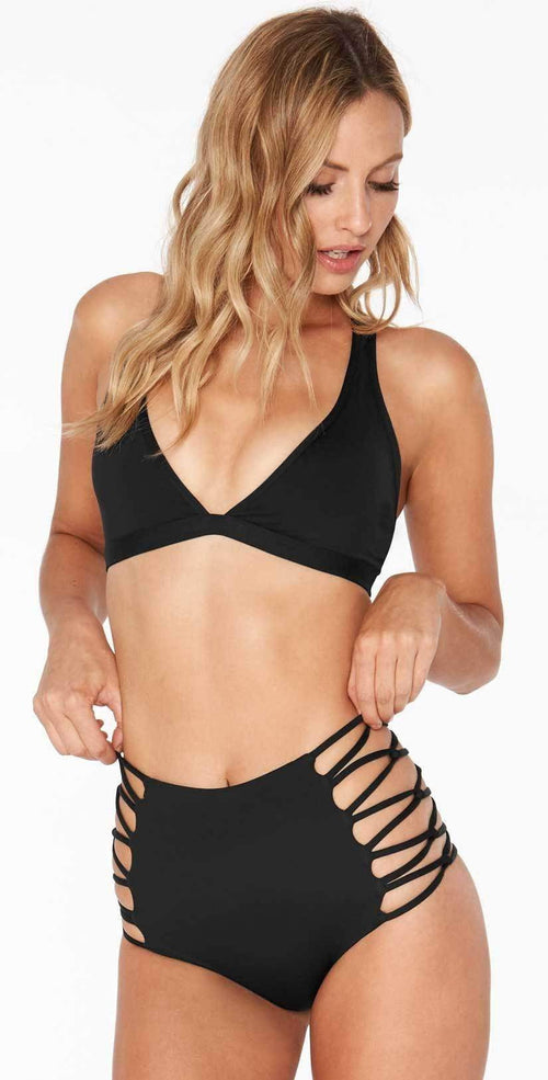 L Space Sklar Top in Black LASKT17-BLK front studio