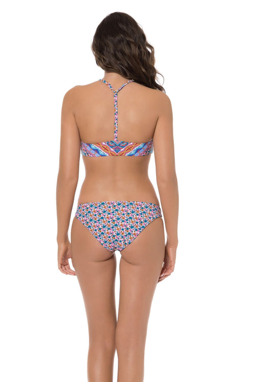 Red Carter Laurel Cannon Blossom Bikini Bottom Back View