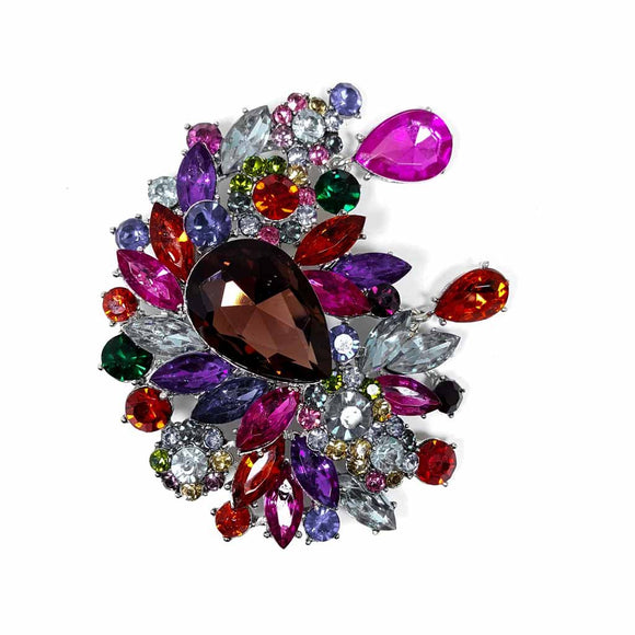 Multiple Color Luxury Waterdrop Brooch