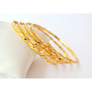 Set of 4 gold plated bangles - Bangle by Shrayathi