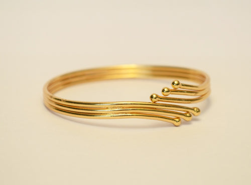 Three layer gold plated bangle - Bangle by Shrayathi