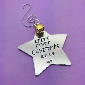 Babys First Christmas Tree Decoration, Babys First Christmas 2018 Personalised Tree Decoration, Christmas Tree Ornament, 1st Christmas Gift