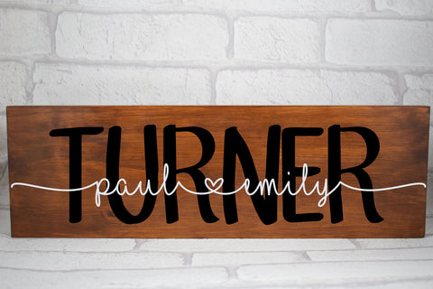 Personalised Wedding Sign, Family Name Plaque, Personalised Couple Plaque, Family Established sign, Wedding Table Sign, Wedding Gift, Rustic