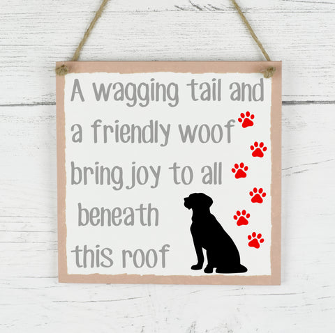 Pet Dog Sign, Family Pet Quote Plaque, Rustic Family Plaque, Home Decor Quote Sign, New Home Gift, Dog Quote Wooden Plaque Sign, Dog Plaque