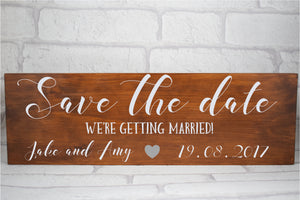 Personalised Save The Date Wedding Announcement Sign