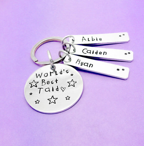 Worlds Best Taid Personalised Keyring